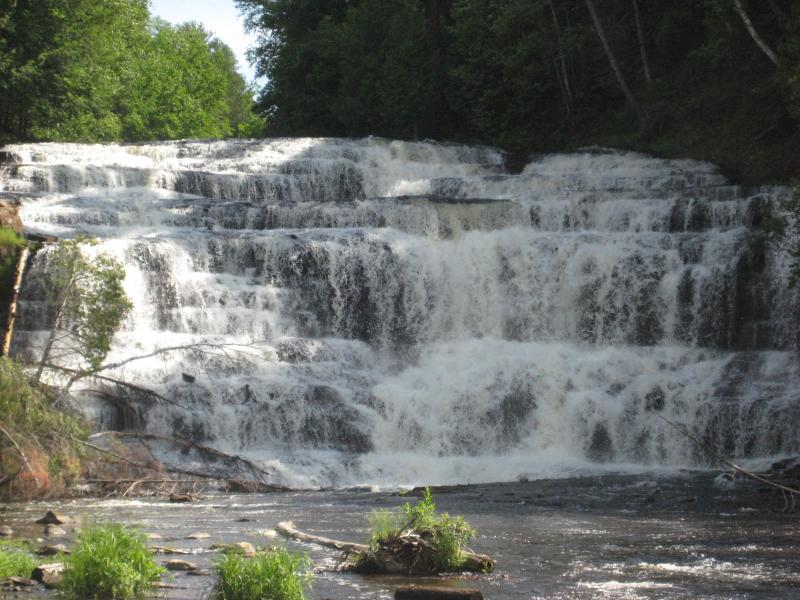 Agate Falls on Middle Branch Ontonagon River