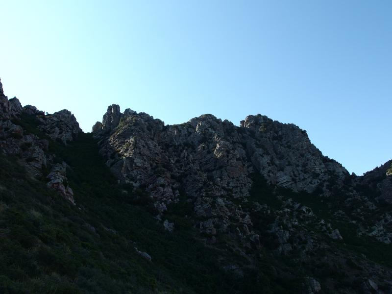 Below the rugged ridgeline