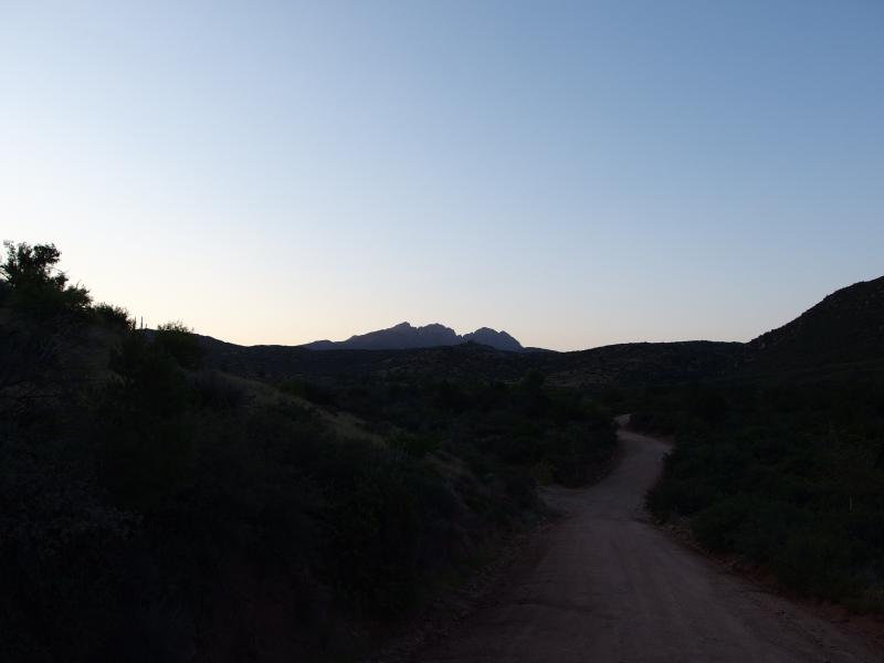 Four Peaks in the distance