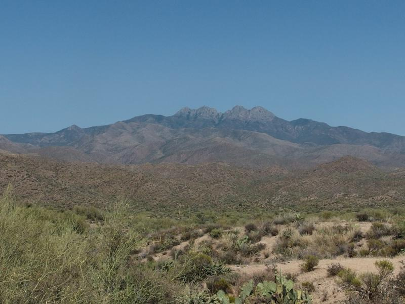 Last look back at Four Peaks