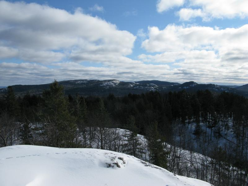 Snowy Superior Mountain to the west