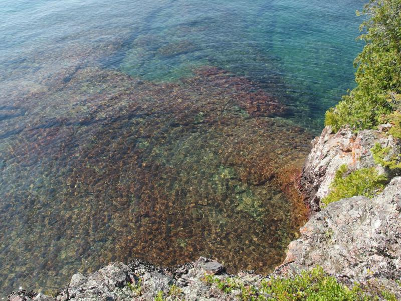 Impossibly clear waters of Lake Superior