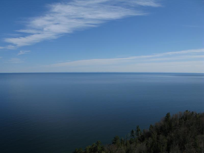 Sharp blue of northern Keweenaw Bay