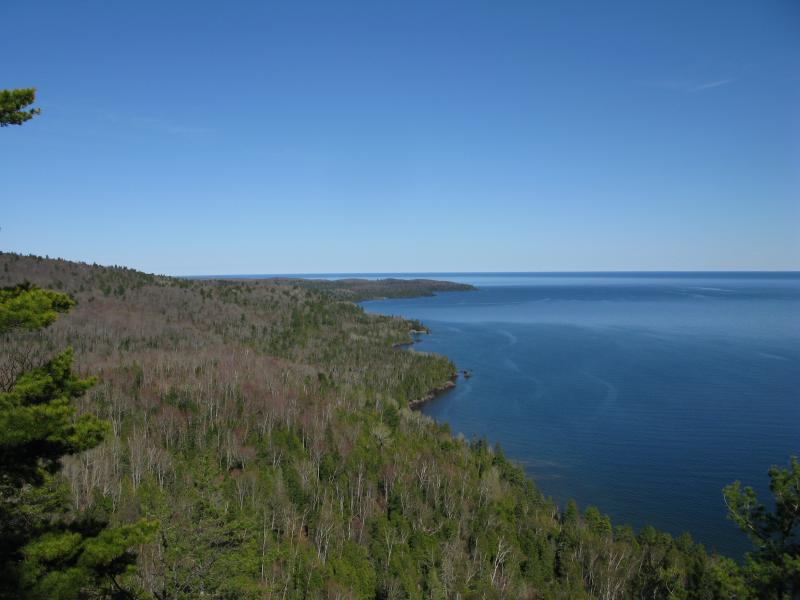 One last view east along the end of the Keweenaw