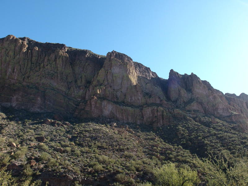 Harsh rock cliffs on the side of Geronimo