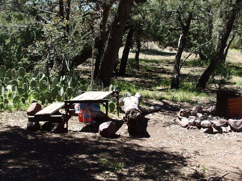 Chilson camp, with table and water cache