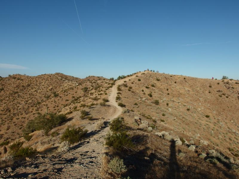 Ridge trail along the ridgeline