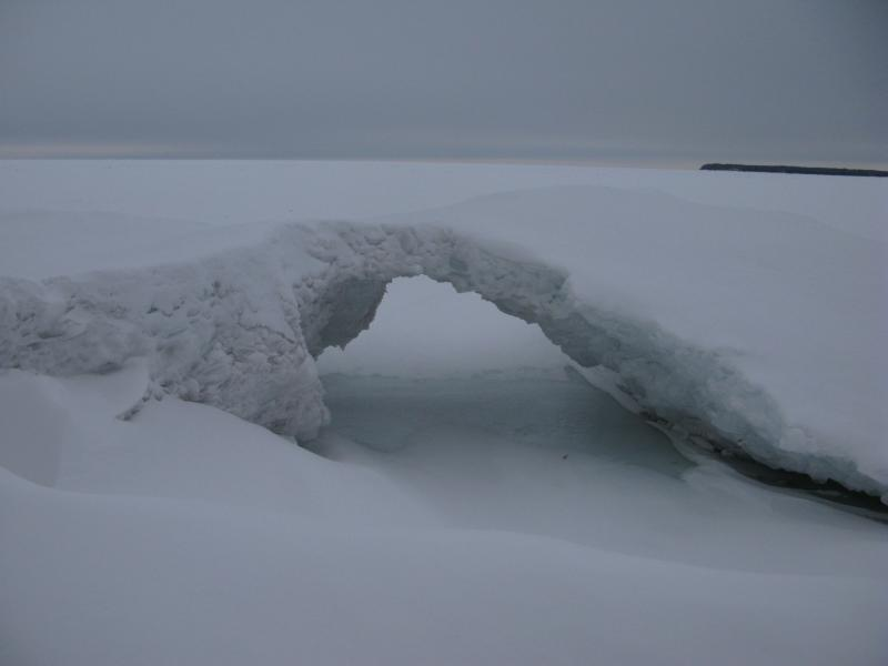 Small ice bridge