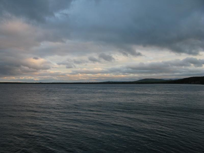 Darkening skies over Lake Superior