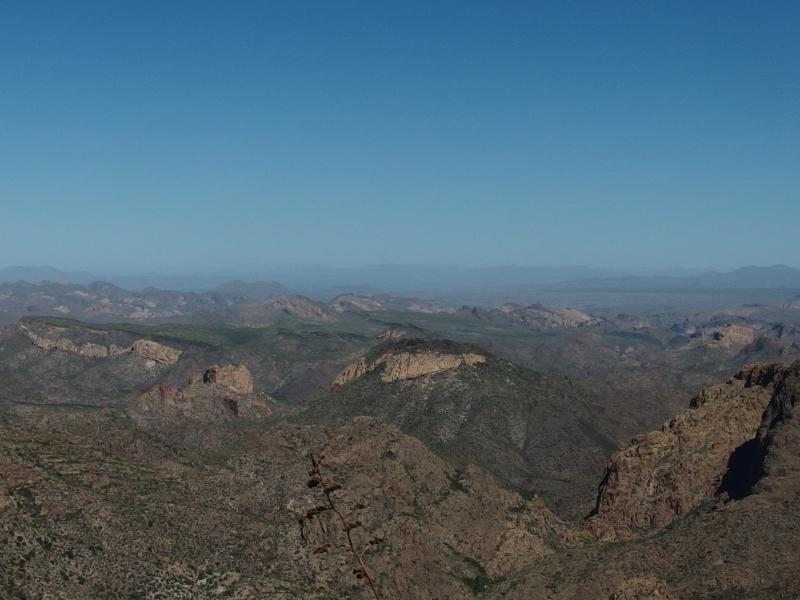 Looking down on Yellow Peak and Black Mesa