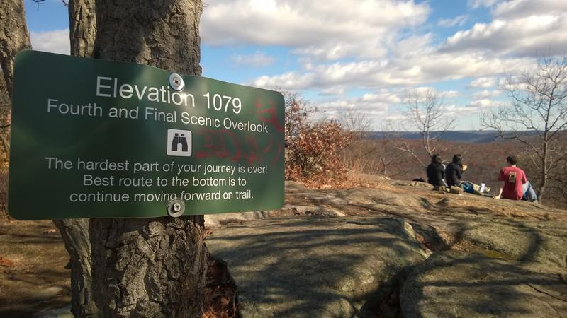 Sign for the last overlook, complete with disappointing elevation
