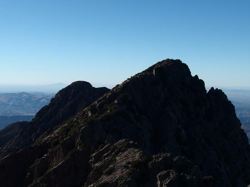 Looking south along the Four Peaks ridgeline