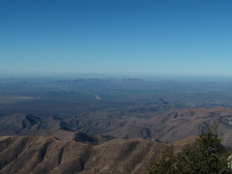 McDowell Mountains, tiny and distant