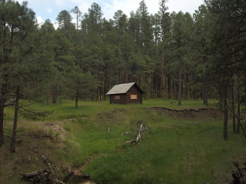 The lonely little Pinchot Cabin