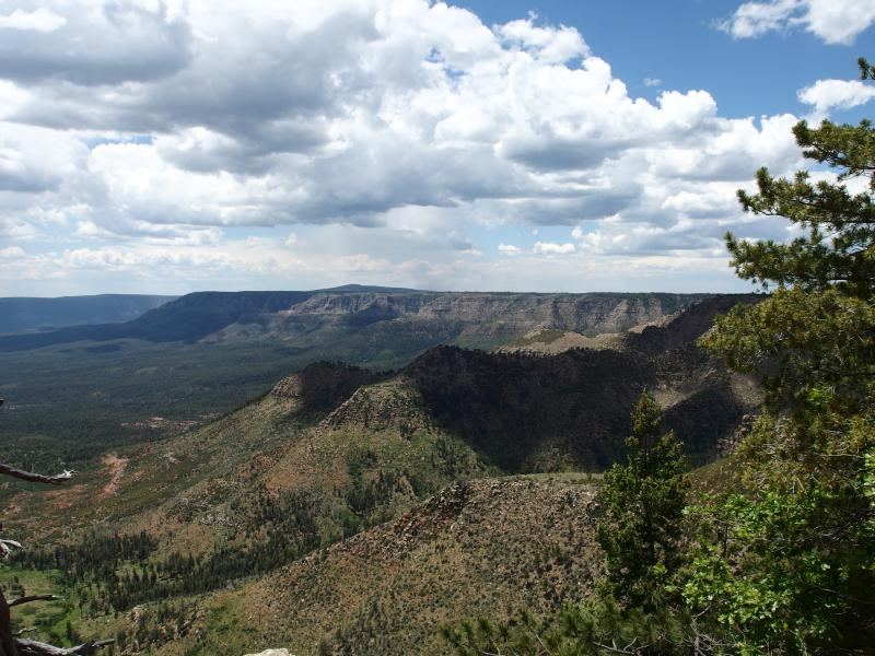 Distant view of the western rim