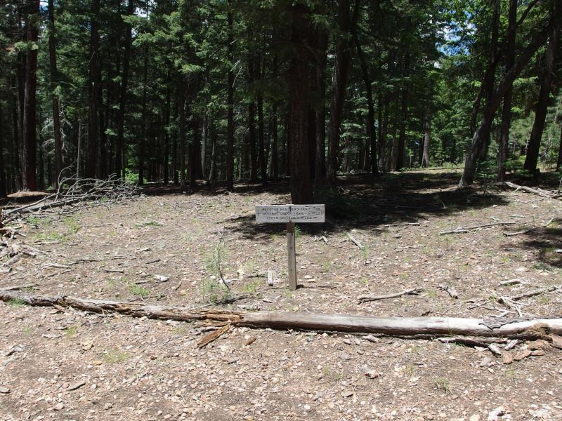 Trail sign on Houston Brothers