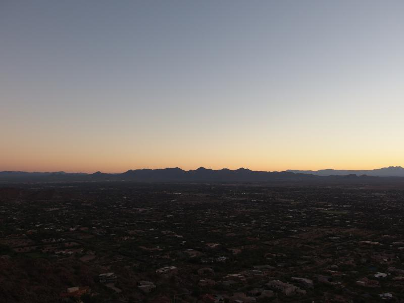 Long line of McDowell range