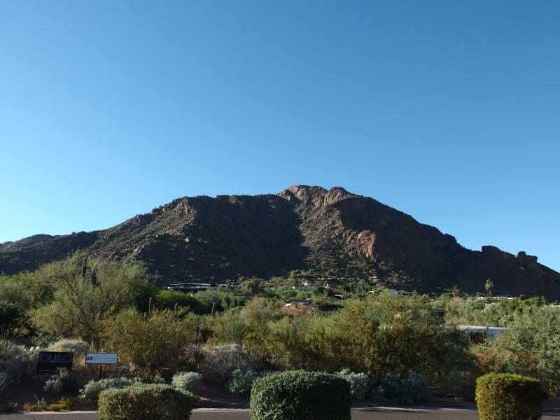 Looking back up at Camelback Mountain