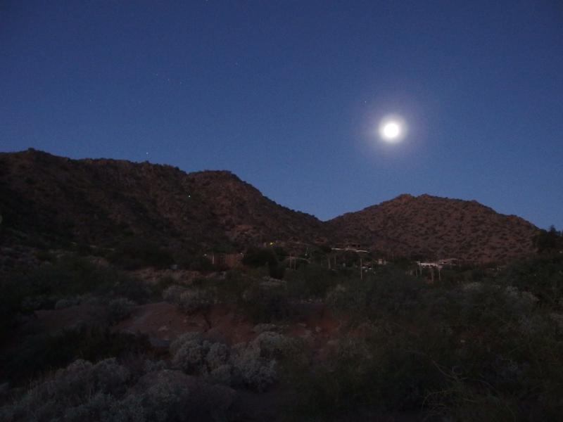 Full moon over Camelback Mountain
