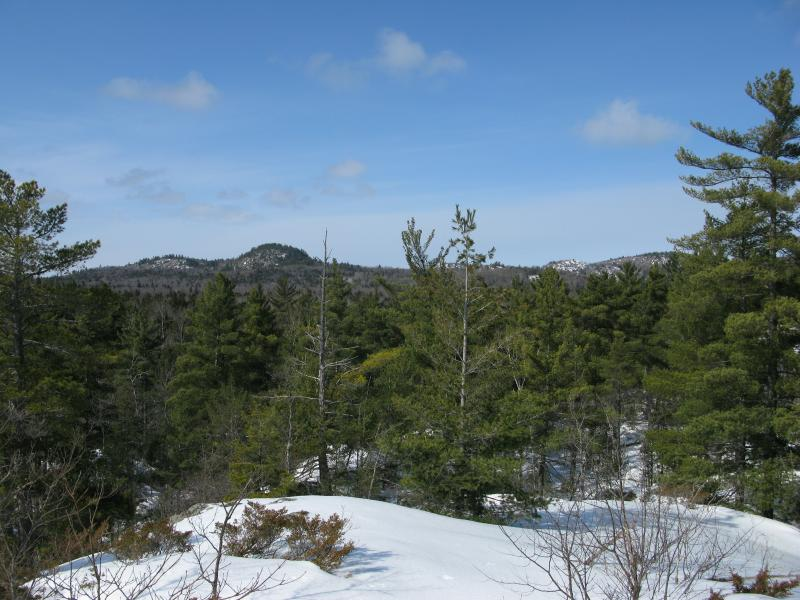Looking West from Cliff Lake Outcroppings