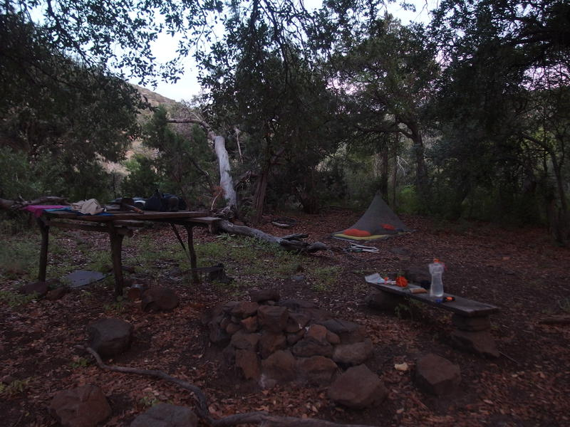 Humble camp at Mountain Spring