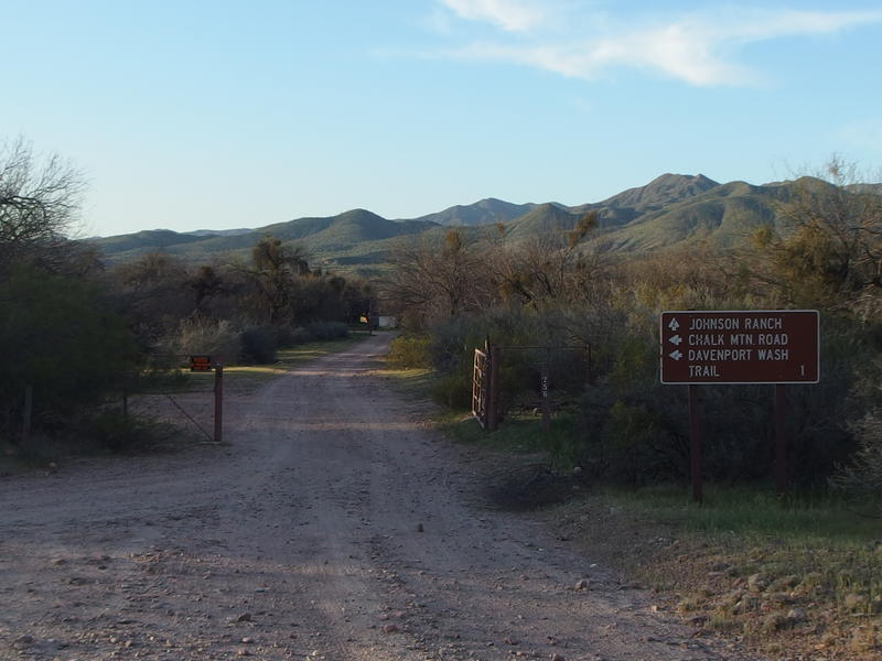 Gate to Johnson Ranch