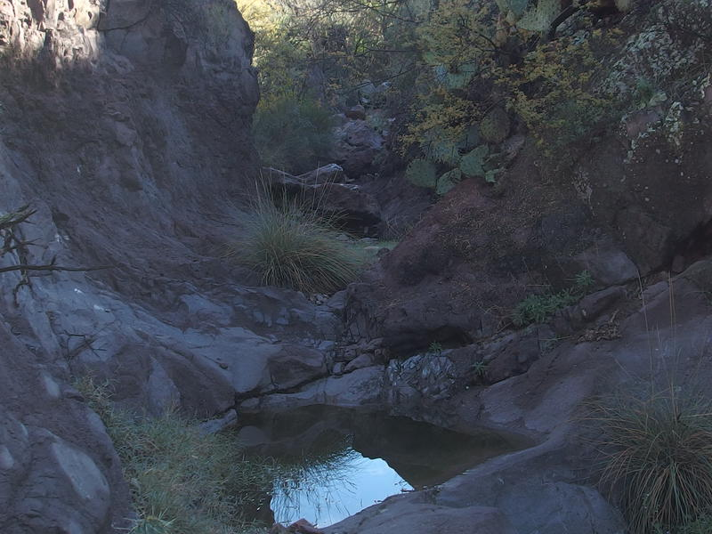 Pools at the mouth of Whetrock Canyon