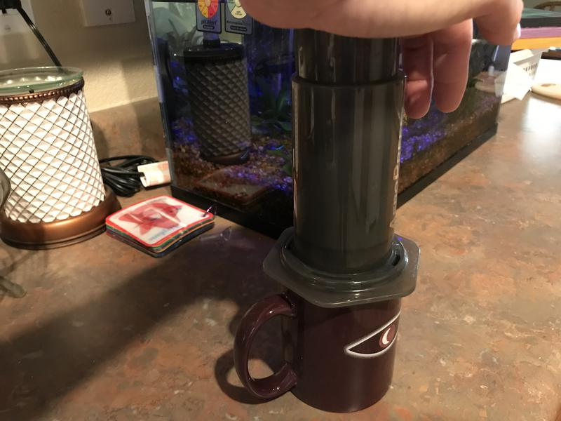 Slightly stronger brew w/ Aeropress