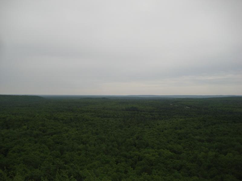 South from Cookout Mountain outcropping