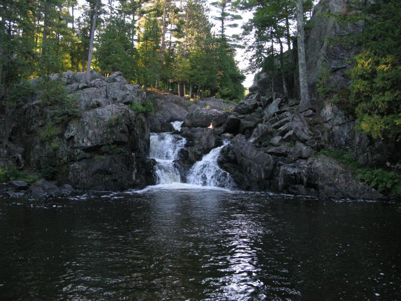 Uppermost falls and pool