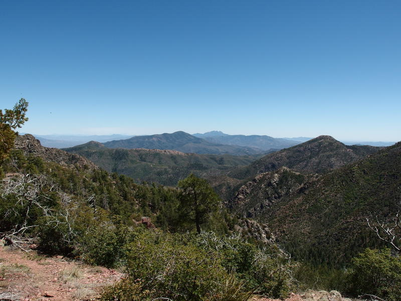 Looking back towards Four Peaks