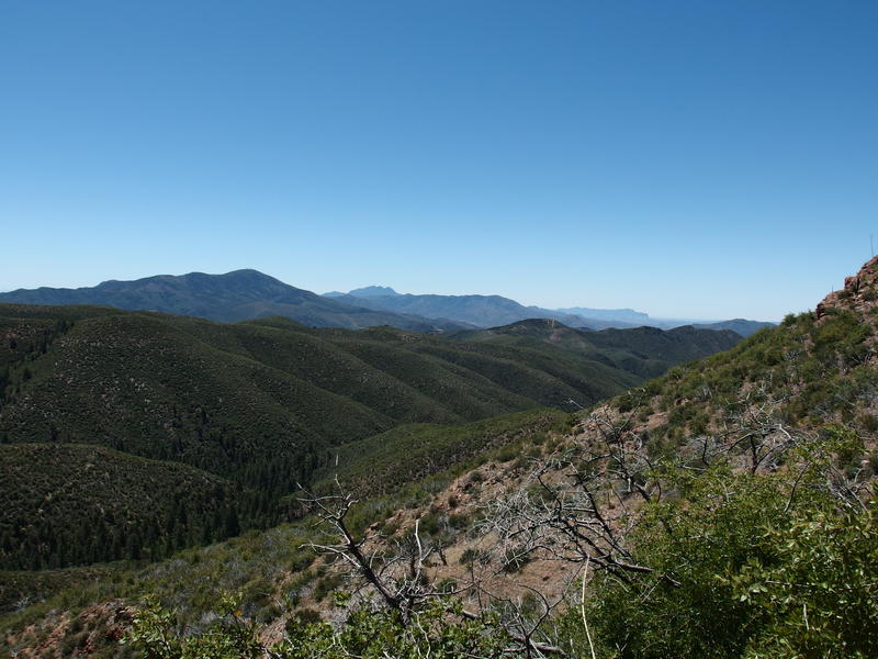 Southern view of Mt Ord, Four Peaks, and the Supes