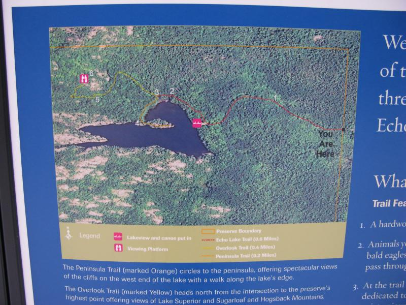 Map on the sign near Echo Lake