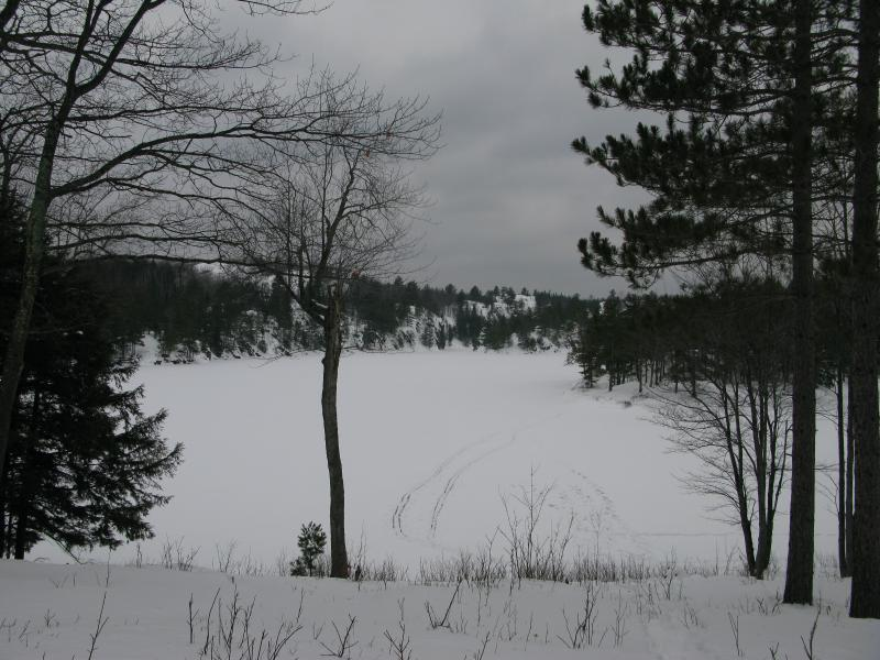 Snow-covered Echo Lake