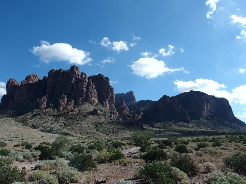 Last view of the Superstitions