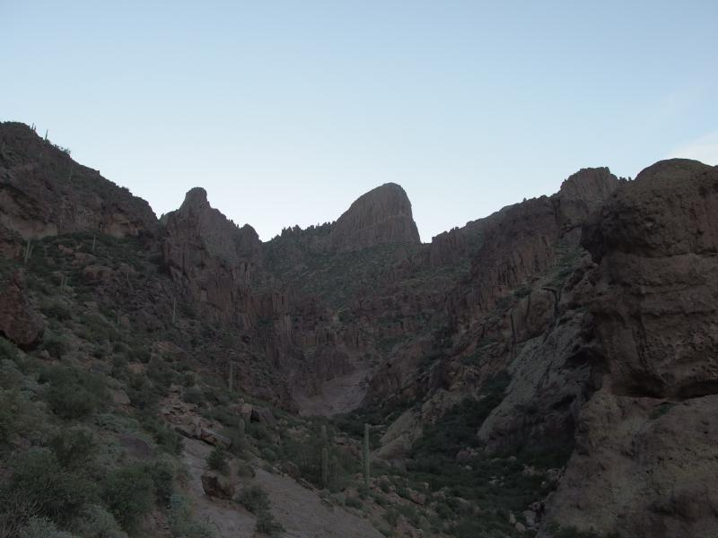 Towering formation of Flatiron over Siphon Draw