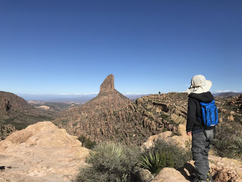 Enjoying the views from Fremont Saddle