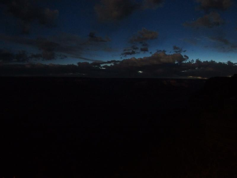 Dramatic night sky over Grand Canyon