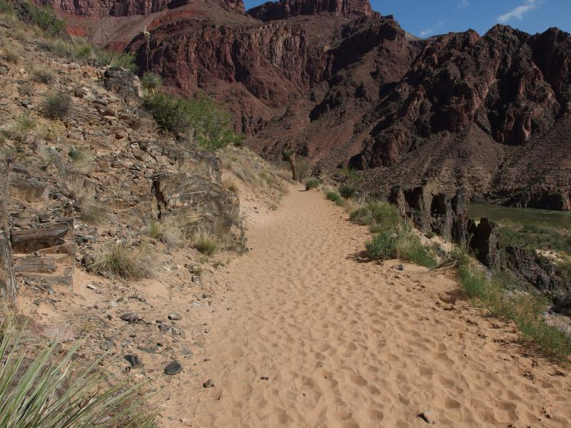Horrible sand clogging up the trail