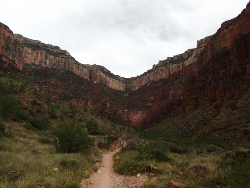 A long, deep gorge up