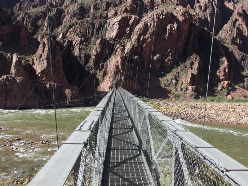 More modern bridge crossing to Bright Angel Trail