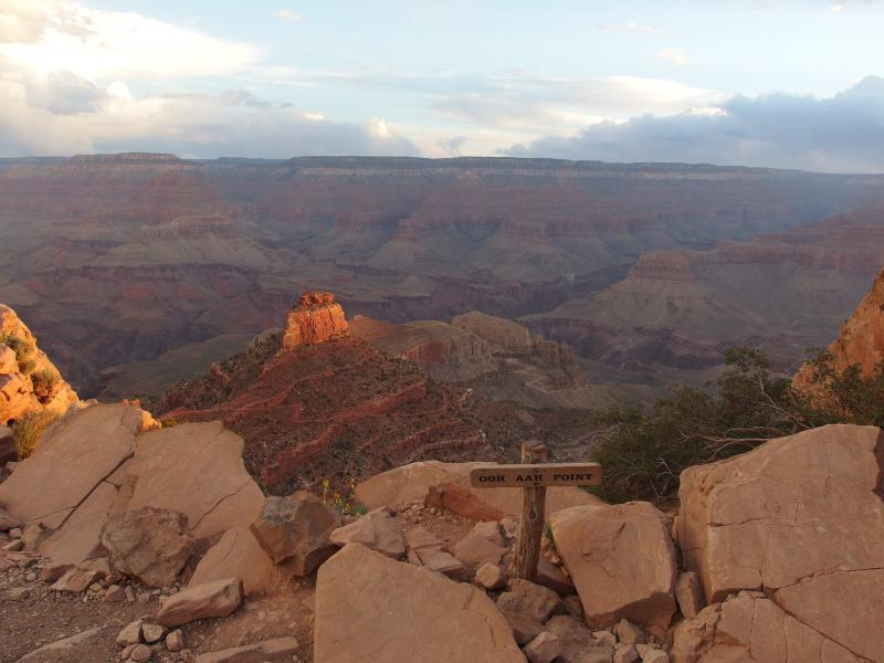 Morning light from Ooh Aah Point
