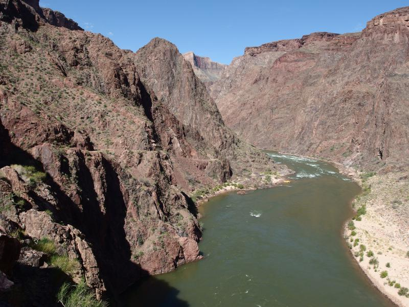 The wide, green waters of the Colorado River