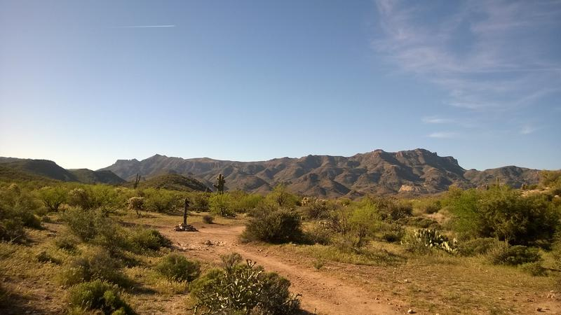 Long stretch of Superstition Ridgeline to the west