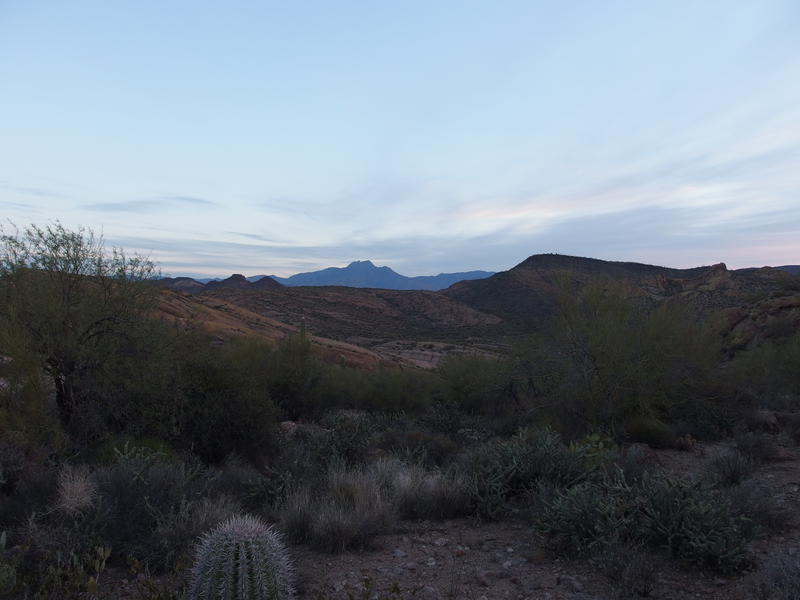 Four Peaks rising up beyond First Water ranch