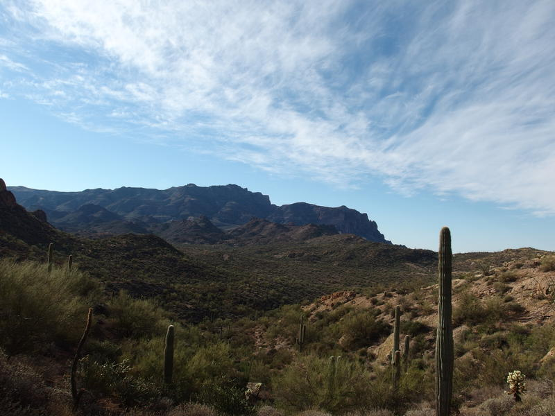 Northern end of Superstition Ridgeline