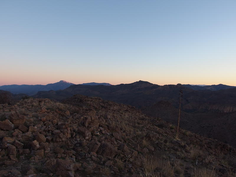 Morning light on Four Peaks