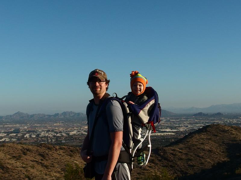 Jake and Noah high up on the ridge