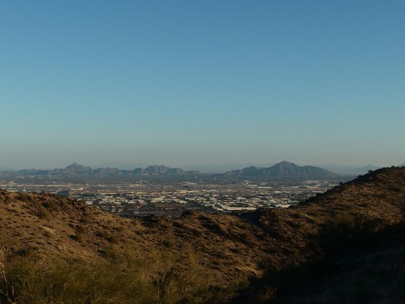 Looking north to Camelback and Phoenix Mountain Preserve