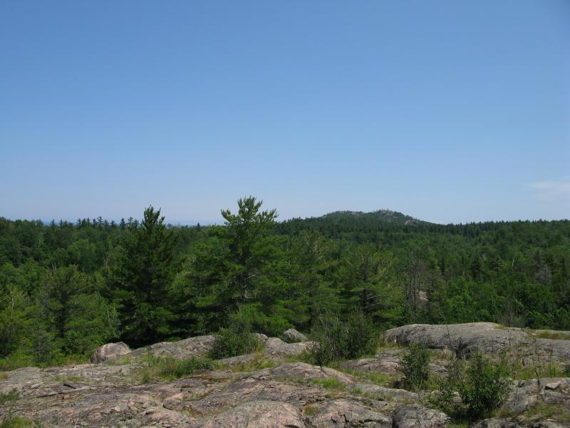 First view of Hogback Mountain